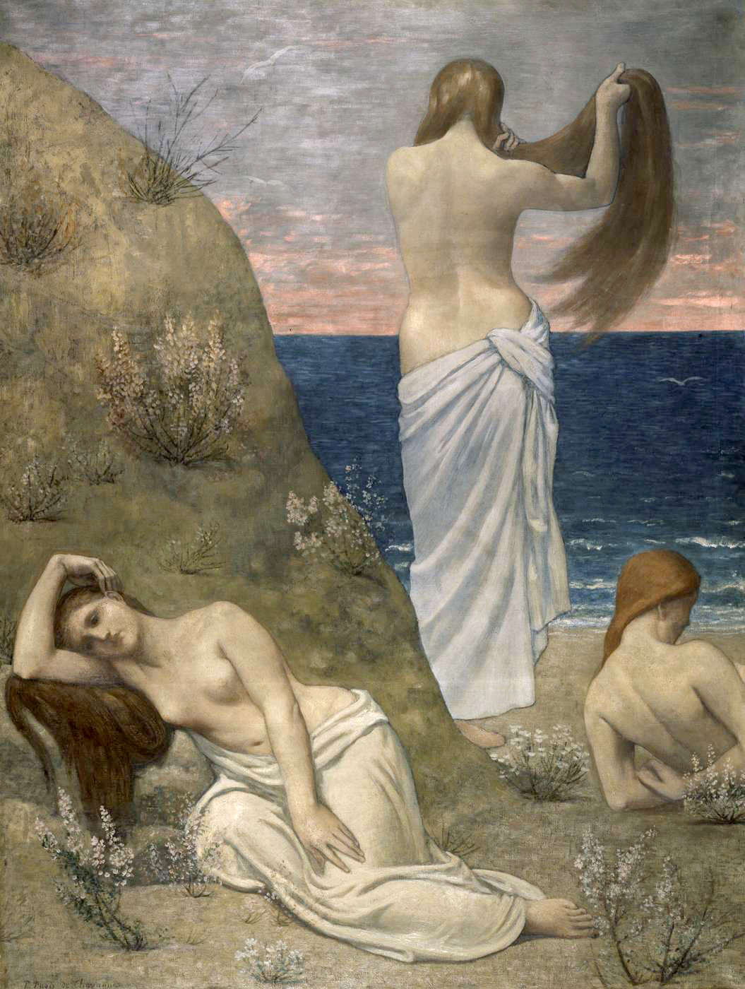 Puvis de Chavannes Young Girls By the Seaside