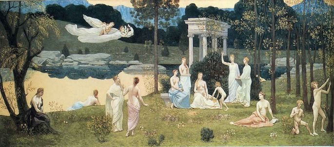 "PIERRE PUVIS DE CHAVANNES: ""The Sacred Grove, Beloved of the Arts and the Muses"""