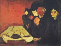 By the deathbed edvard munch oil painting symbolist art 1895