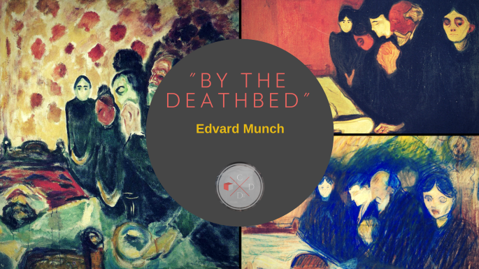 By the deathbed Edvard Munch 1915 Symbolist art painting 1915