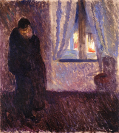 Edvard Munch- Kiss by the Window (1891)