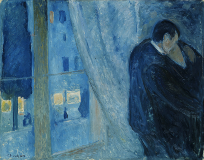 Edvard Munch- Kiss by the window (1892)